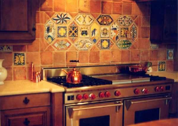 Re Edition Medieval Tile Mediterranean Kitchen Naples By