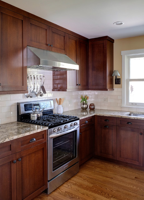 Split Level Kitchen Remodel Photos: Re-Imagined Stickley Style Split-Level