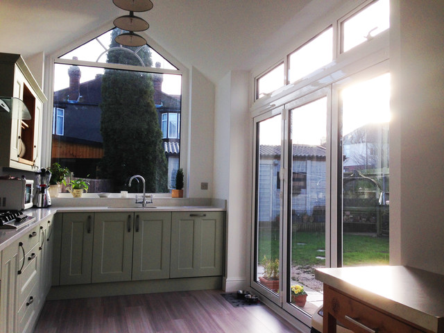 Rear extension new kitchen traditional kitchen for Traditional kitchen extensions