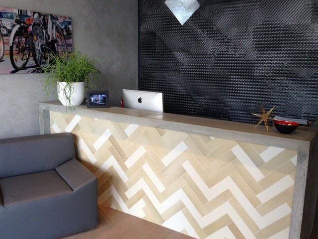 Reception Desk Modern Kitchen Miami By Porto Designs