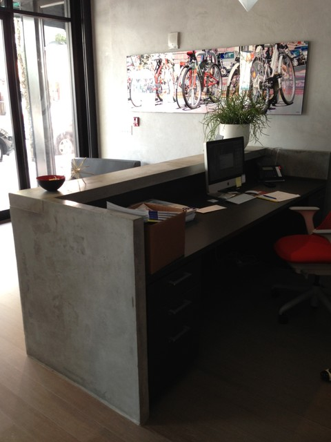 Reception Desk Industrial Kitchen Miami By Porto Designs