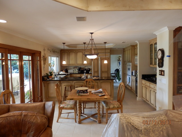 Recessed Ceiling And Lighting Mediterranean Kitchen Orange County By