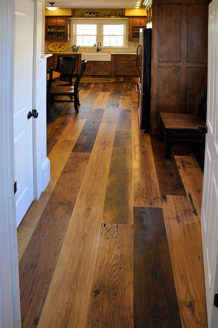Reclaimed Antique Wormy Chestnut Hardwood Flooring - Traditional - Kitchen - other metro - by ...