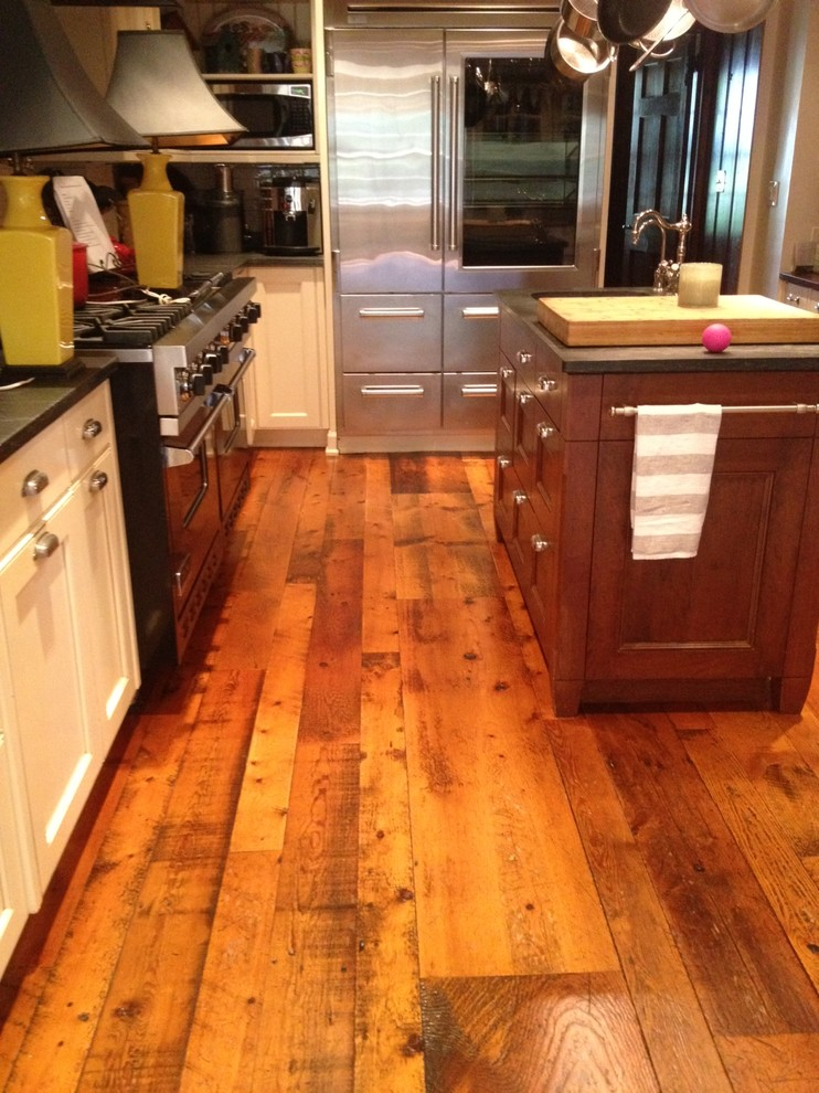 Reclaimed Barn Flooring - Rustic - Kitchen - Newark - by ...