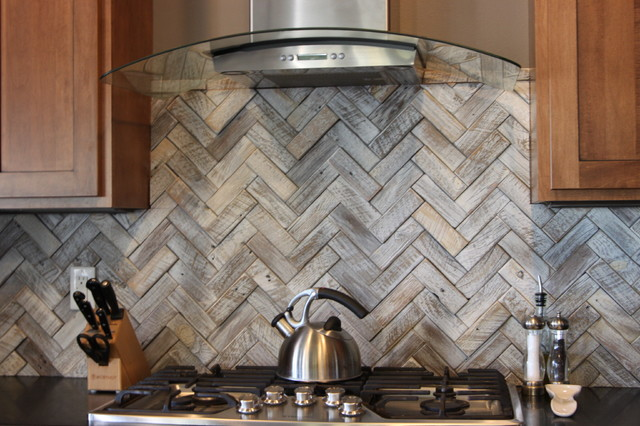 Reclaimed Barnwood Look transitional-kitchen - Reclaimed Barnwood Look - Transitional - Kitchen - Philadelphia