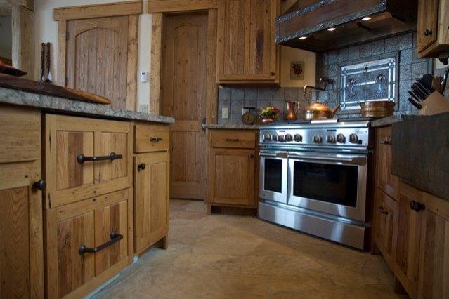 Reclaimed Chestnut Custom Cabinets
