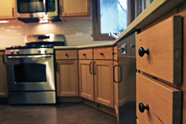Reclaimed Fir Kitchen Cabinets traditional-kitchen