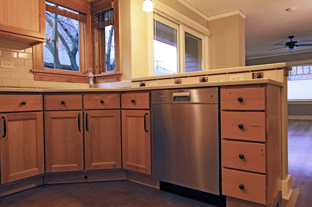 Reclaimed Fir Kitchen Cabinets Traditional Kitchen Portland By