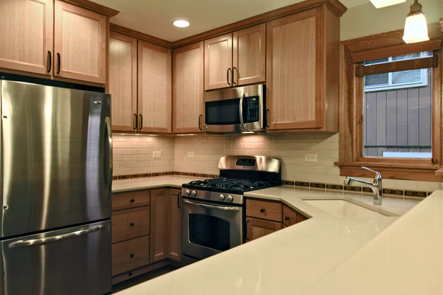 Reclaimed fir kitchen cabinets traditional kitchen for Kitchen cabinets portland
