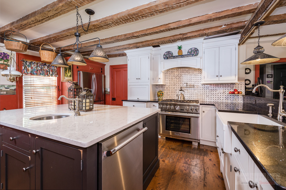Reclaimed in Miller Place - Farmhouse - Kitchen - New York ...
