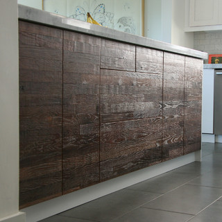Reclaimed lumber ikea kitchen rustic kitchen los for Reclaimed hardwood flooring los angeles