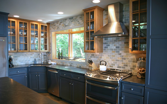 Reclaimed Modern Lakeside Home Industrial Kitchen Milwaukee By Interi