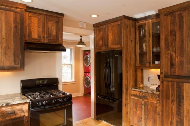 Reclaimed oak Barnwood Cabinets