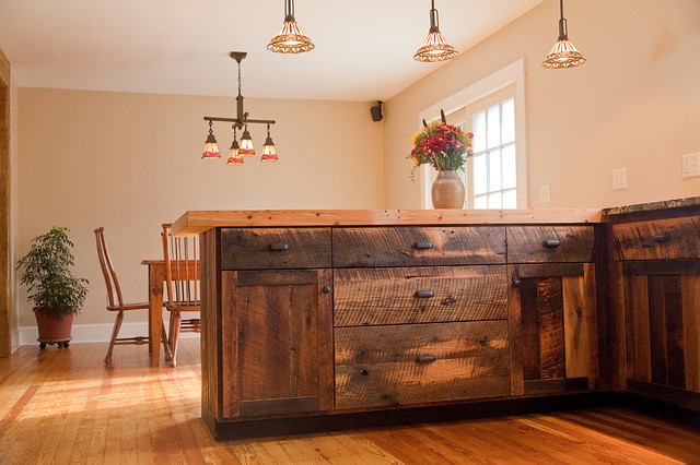 Reclaimed oak barnwood cabinets for Where can i find kitchen cabinets