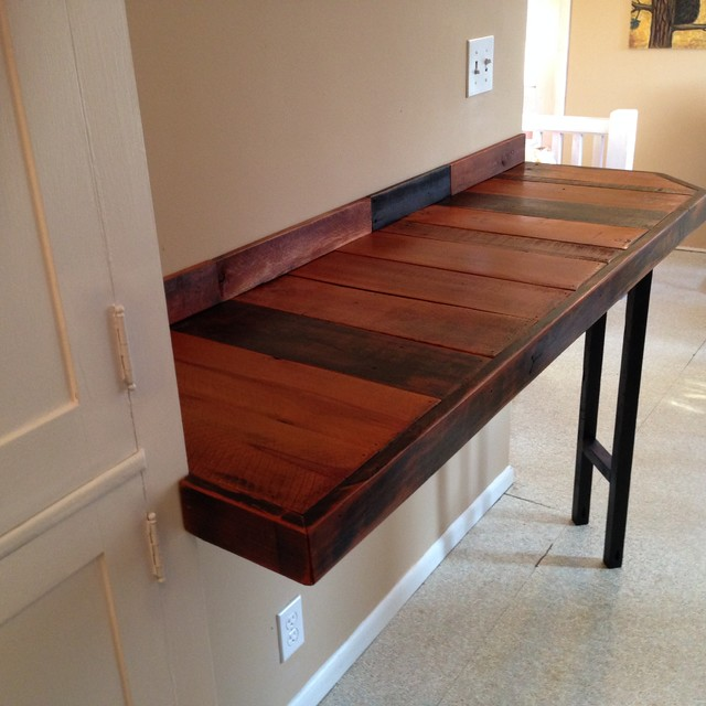 Reclaimed Wood Breakfast Bar Rustic Indoor Pub And Bistro Tables Other Metro By Ron