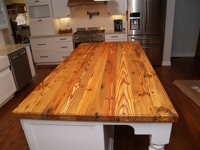 Ordinaire Reclaimed Pine Island Wood Countertop In Waxhaw, NC Farmhouse Kitchen