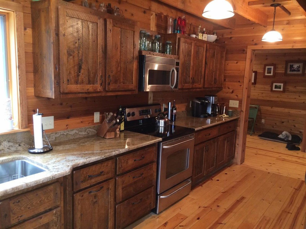 Reclaimed White Pine Kitchen Cabinets Rustic Kitchen Other By Northshore Wood Products Inc