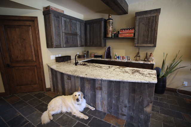 Reclaimed Wood Bar - Traditional - Kitchen - Denver - by Urban Designs