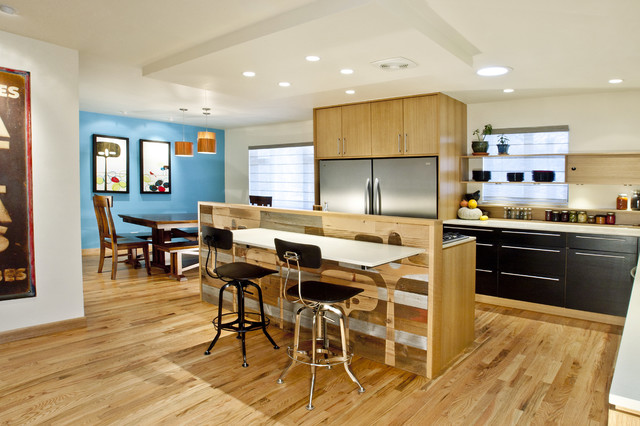 Reclaimed Work of Art contemporary-kitchen
