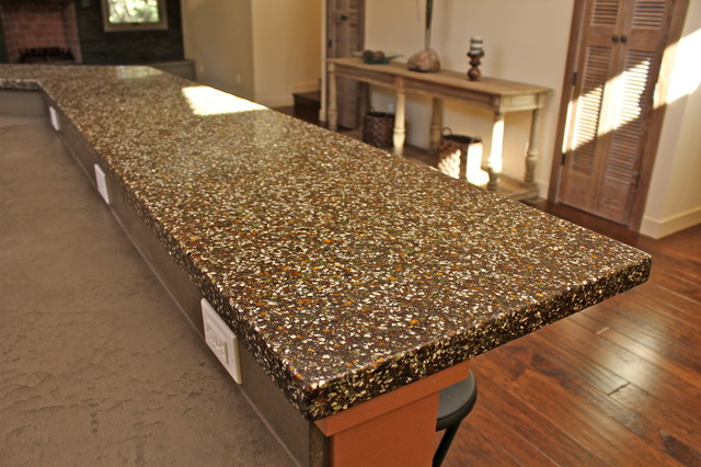 Recycled glass amp concrete countertop custom colors