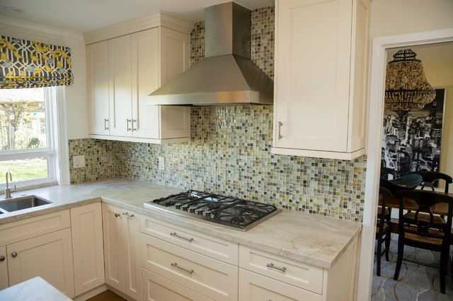 recycled glass tile backsplash modern kitchen san
