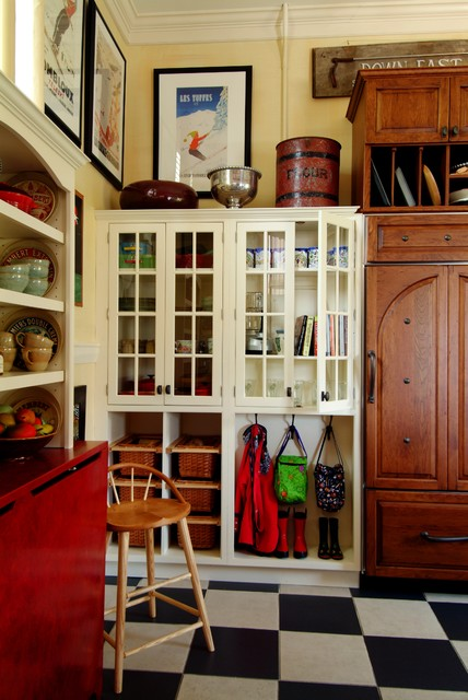 Red AGA traditional-kitchen
