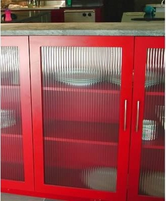 Red And Funky Modern Kitchen Other By Kitchen Concepts Inc