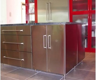 Red and Funky - Modern - Kitchen - other metro - by Kitchen Concepts, Inc.