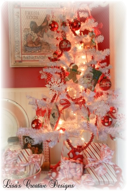 Red and White Christmas Tree - Eclectic - Kitchen - raleigh - by Lisa's Creative Designs
