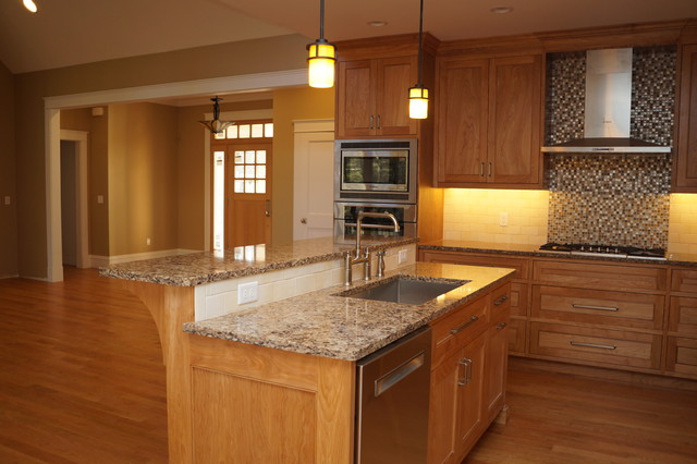 Red Birch Kitchen Handcrafted Beauty Transitional Kitchen Other By Taylor Made Cabinets Leominster Ma
