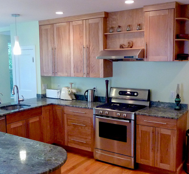 Red Birch Kitchen Cabinets: Red Birch Kitchen In Jamaica Plain Traditional-kitchen