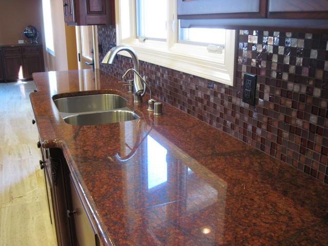 Red Dragon Granite traditional-kitchen
