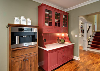 Red hutch - Traditional - Kitchen - Minneapolis - by Ehlen Creative Communications