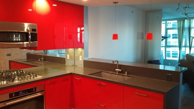 Red Interior In San Diego Kitchen Design