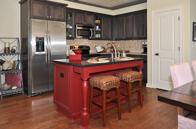 red kitchen islands island kitchen birmingham by signature homes 1780