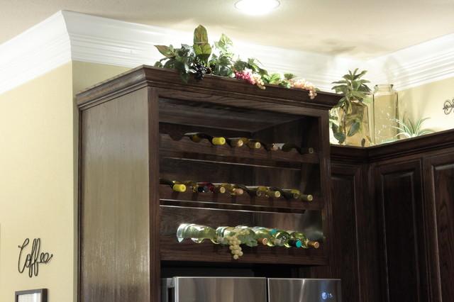 Red Oak Kitchen & Bath With Ebony Stain  Mediterranean  Kitchen