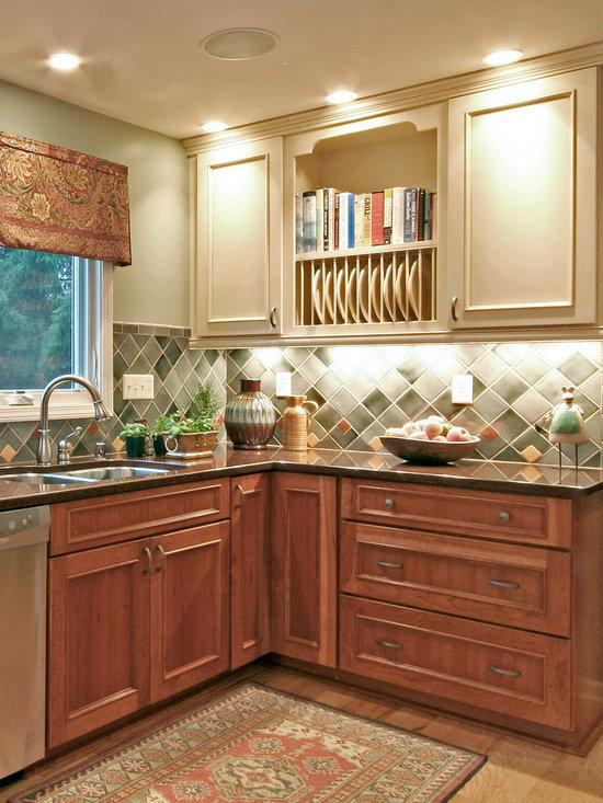 Counter Material Granite Engineered Quartz Kitchen Design Ideas, Remodels & Photos with Medium ...