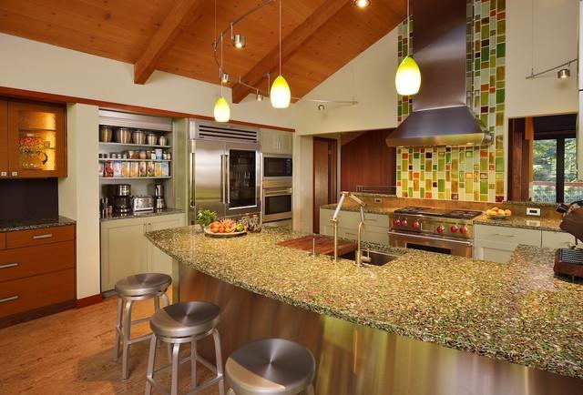 Redwood Retreat Modern Kitchen Other By Santa Cruz Design Build