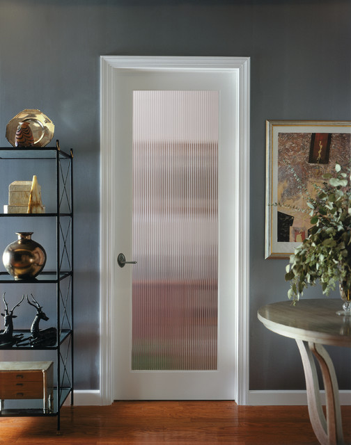 Reeded Decorative Glass Interior Door Traditional Kitchen Sacramento