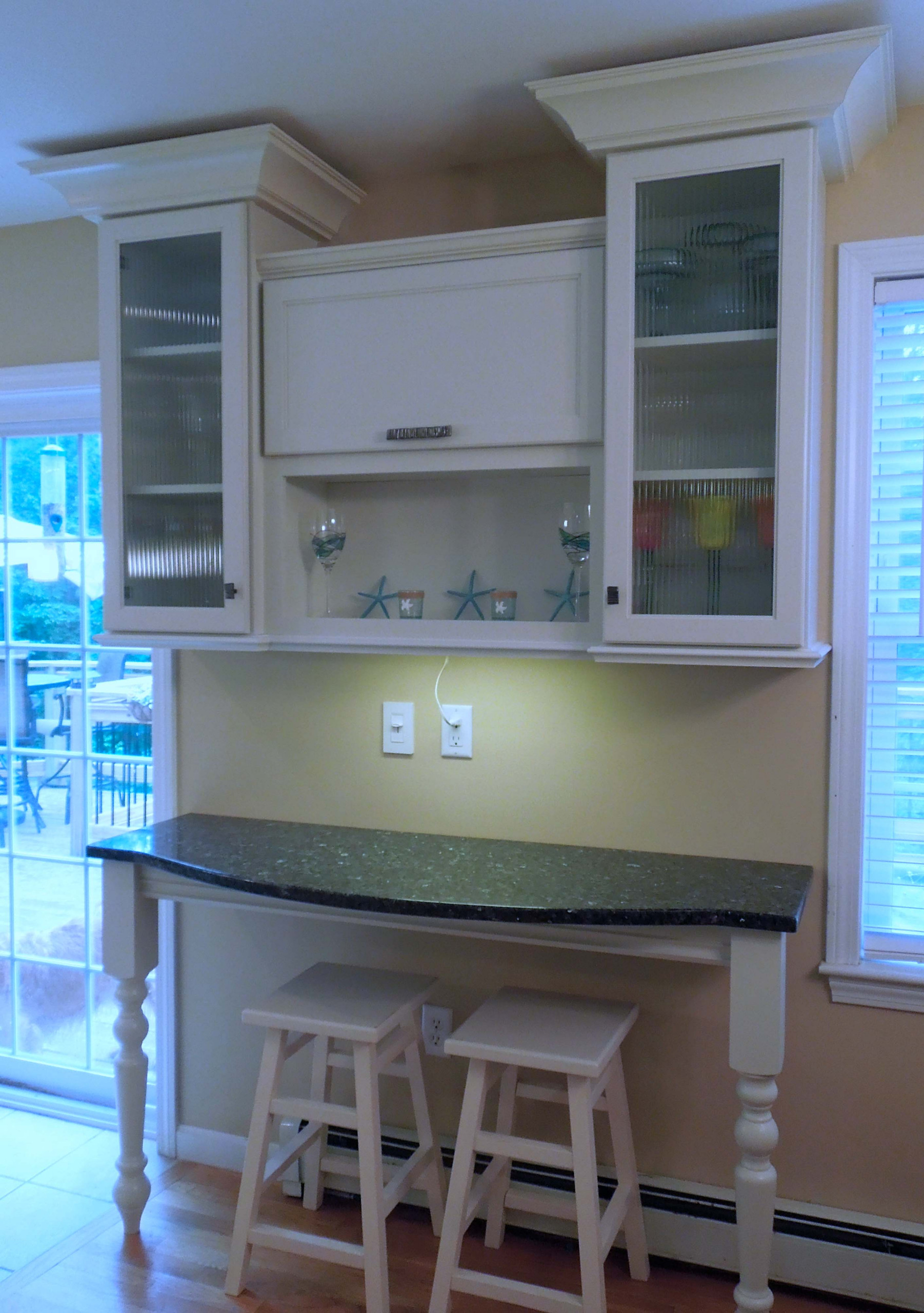 Reeded Glass at the Desk