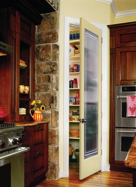 Reeded Pantry Decorative Interior Glass Door Traditional