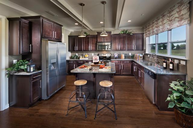 Reedy fork northwood model home traditional kitchen for Model home kitchens