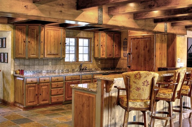 Rustic kitchen traditional kitchen salt lake city for Rustic kitchen ideas for decorating