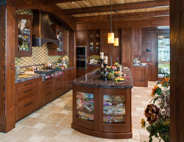 Refined Rustic traditional-kitchen