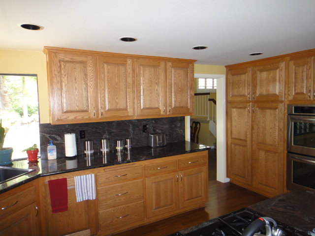 Refinished cabinets modern kitchen los angeles by for Contemporary kitchen cabinets los angeles