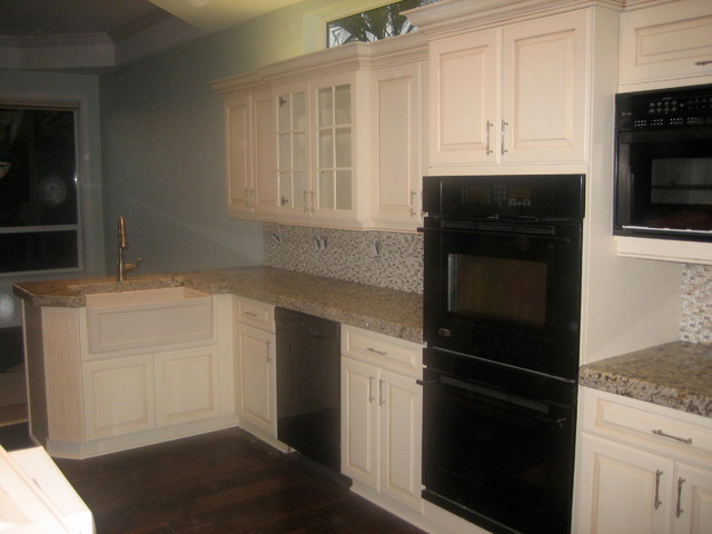 Refinishing Kitchen Cabinets Traditional Kitchen