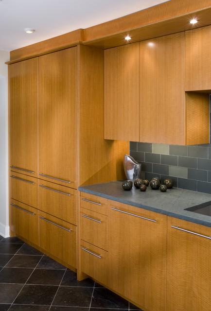 Refrigerator Wall contemporary-kitchen