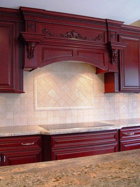 Regal Red traditional-kitchen