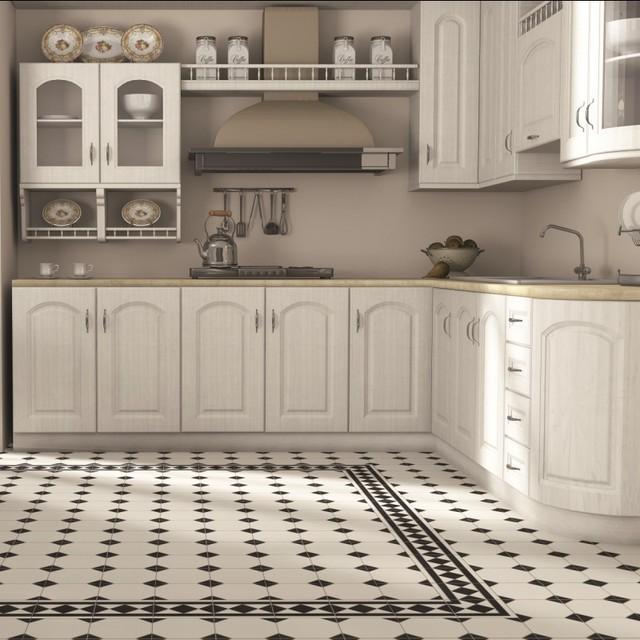 Regent Black And White Floor Tiles Patterned Floor Tiles
