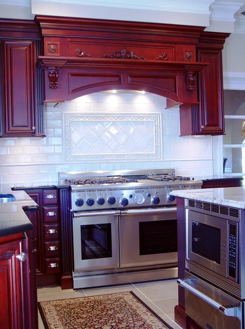 Remarkable Red Kitchen Traditional Kitchen Philadelphia By Cranbury Design Center Llc